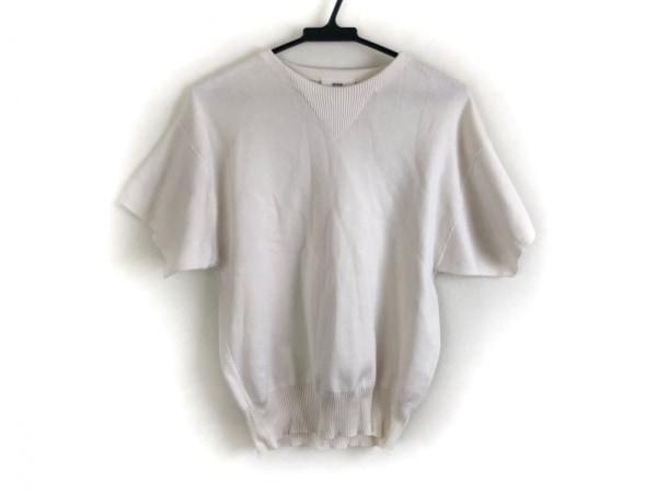 HYKE(ハイク) 半袖セーター サイズ1 S メンズ美品  アイボリー