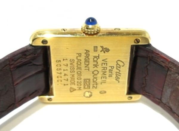 カルティエ 腕時計 マストタンクヴェルメイユ - レディース 925/トリニティ文字盤 白