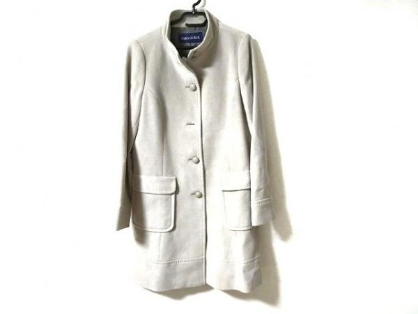 キャラオクルス コート サイズ9 M レディース美品  グレー 肩パッド/冬物