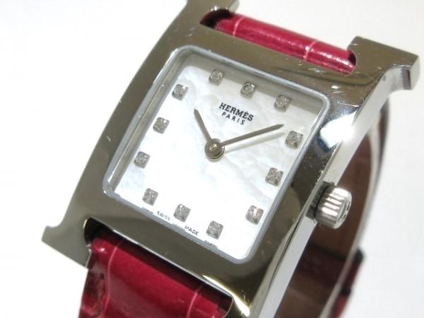 HERMES(エルメス) 腕時計 Hウォッチ HH1.210 レディース シェルホワイト
