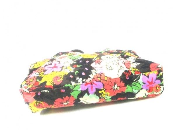 PaulSmith(ポールスミス) トートバッグ 黒×レッド×マルチ 花柄 キャンバス