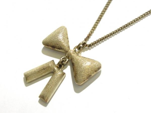 CHANEL(シャネル) ネックレス 金属素材×ラインストーン ゴールド×クリア リボン
