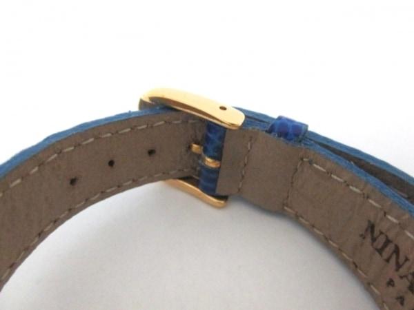 NINARICCI(ニナリッチ) 腕時計美品  W974 レディース 革ベルト/シェル文字盤