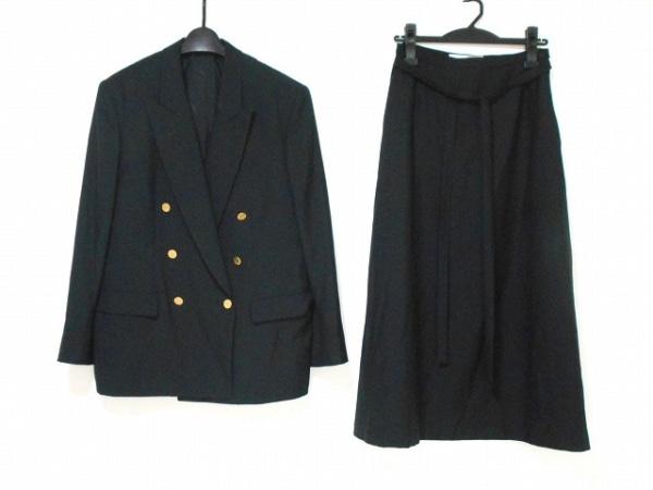 INGEBORG(インゲボルグ) スカートスーツ レディース美品  黒 肩パッド