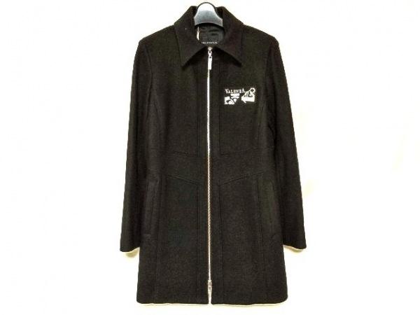バレンザ コート サイズ40 M レディース美品  黒×シルバー ラインストーン/冬物