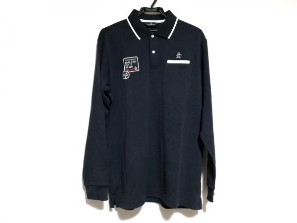 Munsingwear(マンシングウェア) 長袖ポロシャツ サイズLL メンズ美品  ダークネイビー