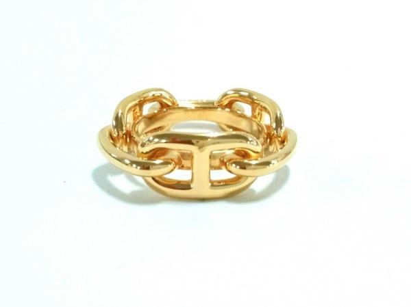 エルメス スカーフリング美品  シェーヌダンクル 金属素材 ゴールド ゴールド金具