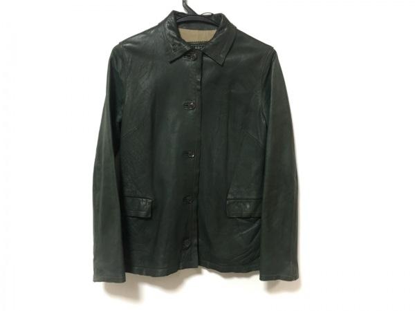 S.D.K(エスディーケー) ジャケット サイズ36 S レディース美品  カーキ レザー