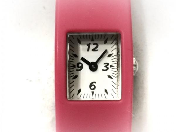 ZUCCA(ズッカ) 腕時計 V220-643A レディース CABANE de ZUCCa/ラバーベルト 白