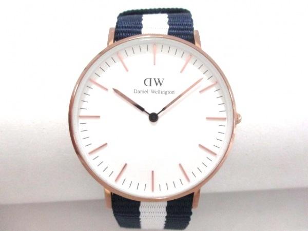 Daniel Wellington(ダニエルウェリントン) 腕時計美品  - B15 レディース 白