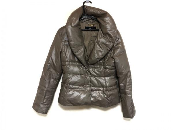 INED(イネド) ダウンジャケット サイズ9 M レディース美品  グレージュ 冬物