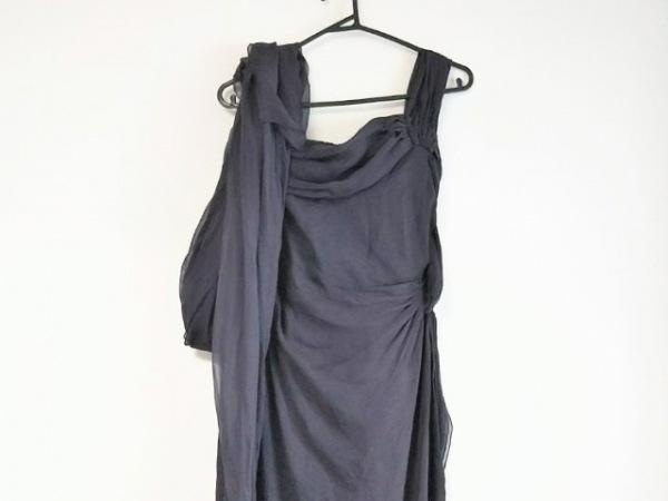 バレンチノ ドレス サイズ10 L レディース ボルドー BOUTIQUE/シルク/ワンショルダー