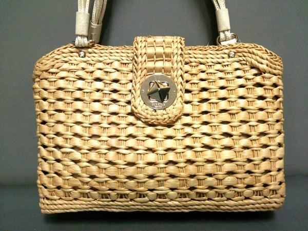 Kate spade(ケイトスペード) ショルダーバッグ PXRU0333 ベージュ×白 かごバッグ