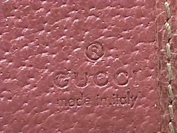 GUCCI(グッチ) 長財布 - 153211 ベージュ×ピンク ジャガード×レザー