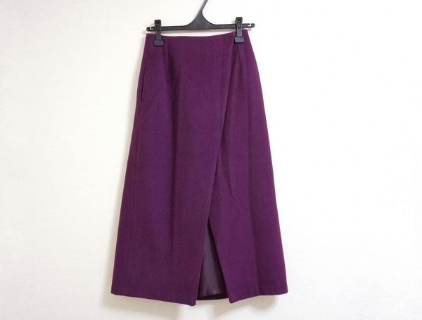 ツルバイマリコオイカワ 巻きスカート サイズ34 S レディース美品  パープル