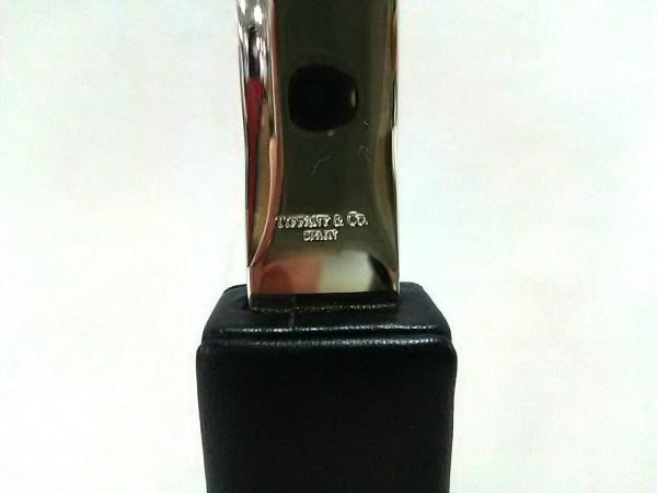 TIFFANY&Co.(ティファニー) 小物美品  シルバー×黒 ペーパーナイフ 金属素材×レザー