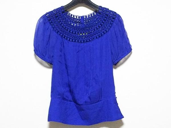 キャサリンマランドリーノ 半袖カットソー サイズ2 S レディース美品  ブルー