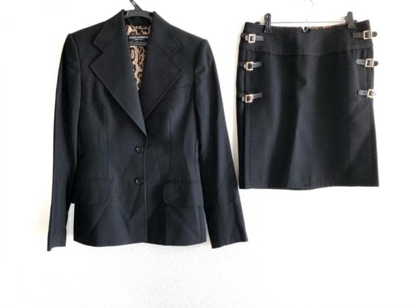 DOLCE&GABBANA(ドルチェアンドガッバーナ) スカートスーツ サイズ38 S レディース 黒