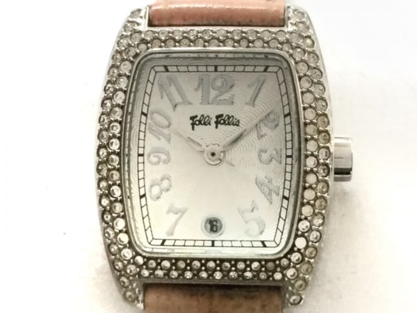 FolliFollie(フォリフォリ) 腕時計 - レディース 革ベルト シルバー