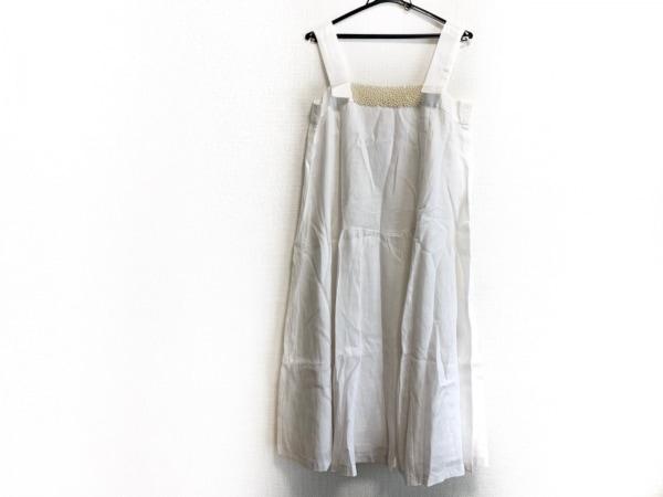 アナトリエ ワンピース サイズ2 M レディース美品  白×アイボリー フェイクパール
