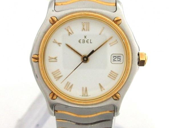 EBEL(エベル) 腕時計 クラシックウェーブ 1087121 レディース SS×K24YG 白