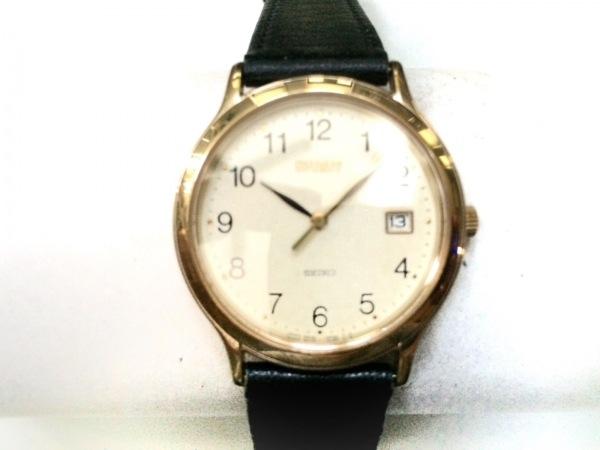 SEIKO(セイコー) 腕時計美品  SPIRIT 5E32-6A3A レディース 革ベルト アイボリー