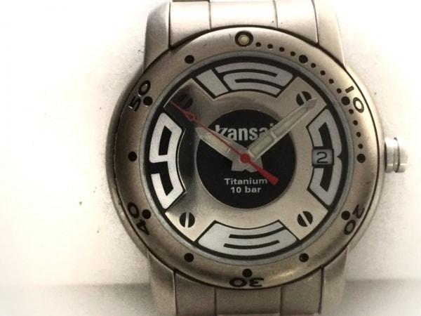 kansai(カンサイ) 腕時計 KT-0821 メンズ シルバー×黒