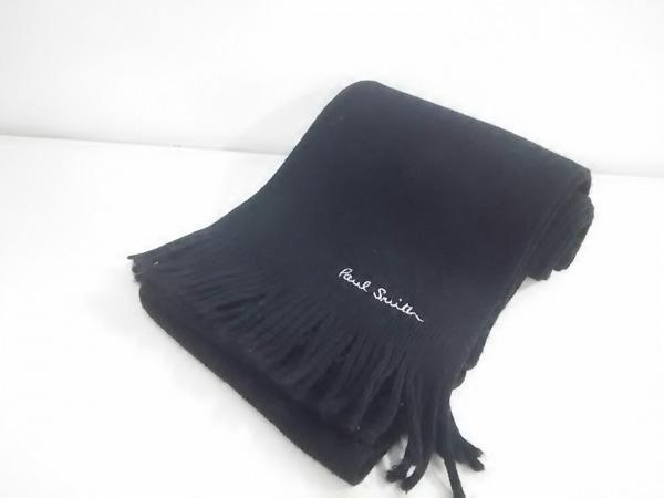 PaulSmith(ポールスミス) マフラー新品同様  黒×白 ウール