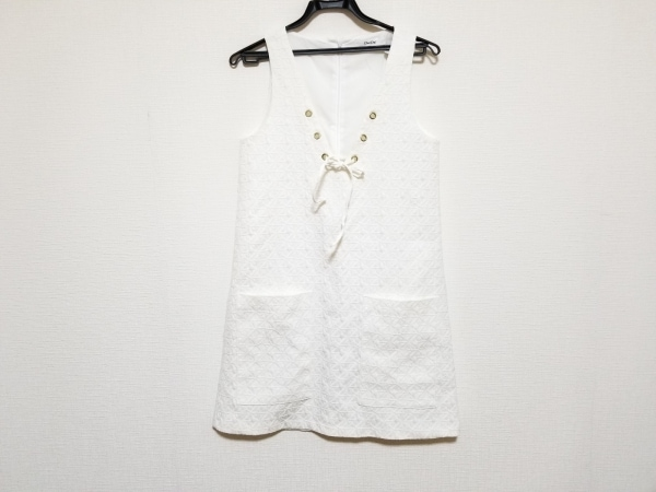 DouDou(ドゥドゥ) ワンピース サイズF レディース美品  白