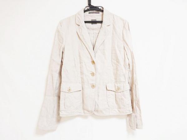 SEVENTY(セブンティ) ジャケット サイズ44 L レディース ベージュ 麻