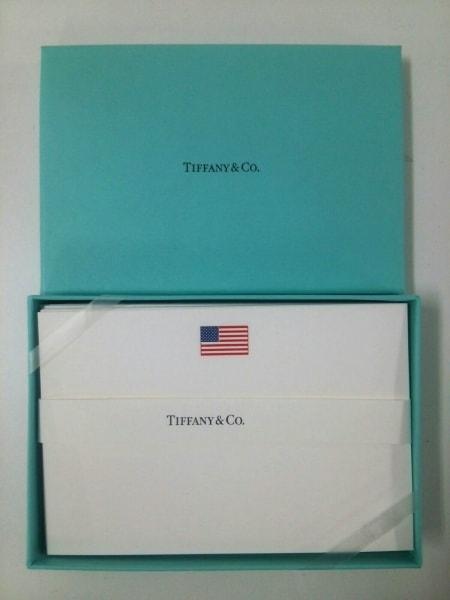size 40 6e6b2 cbd0e TIFFANY&Co.(ティファニー) 小物新品同様 白 レターセット ペーパー
