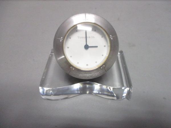 TIFFANY&Co.(ティファニー) 小物新品同様  シルバー×クリア 置時計(動作確認できず)