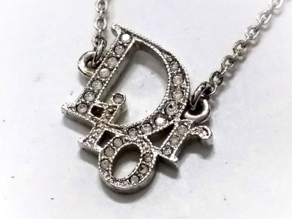 quality design 9917f 1f71c クリスチャンディオール ネックレス美品 金属素材×ラインストーン シルバー×クリア
