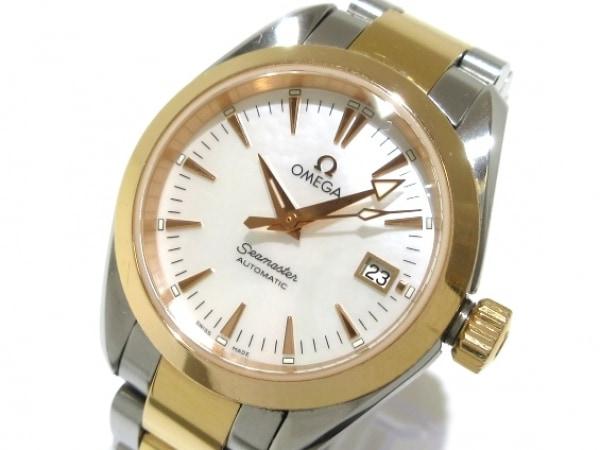 オメガ 腕時計 シーマスターアクアテラ 2373.70 レディース K18PG×SS/シェル文字盤