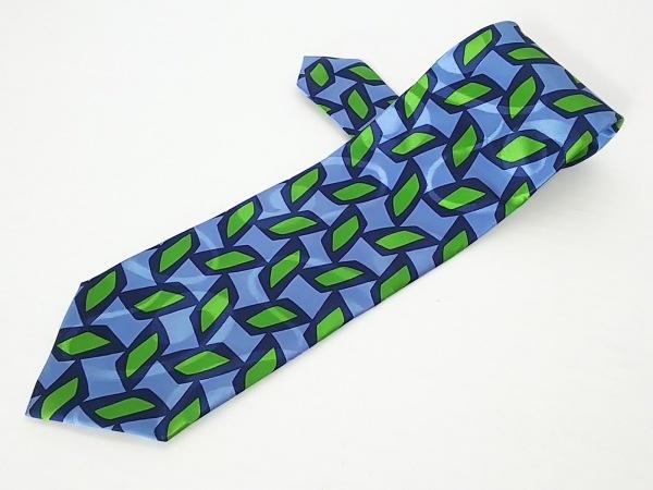 ジョルジオアルマーニ ネクタイ メンズ美品  ブルー×ネイビー×グリーン