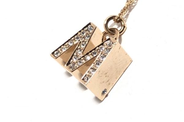 GROSSE(グロッセ) ネックレス 金属素材×ラインストーン ゴールド Wモチーフ