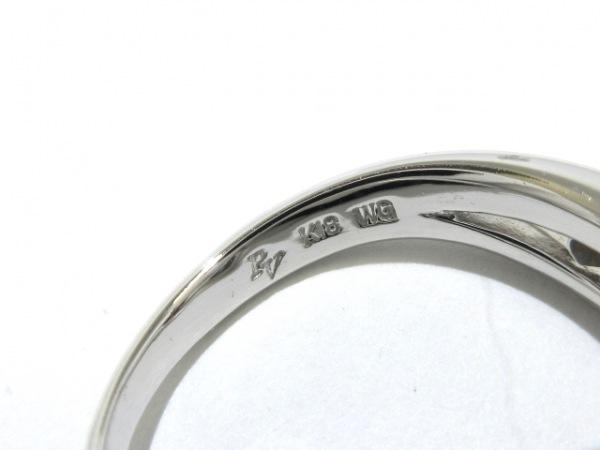 PonteVecchio(ポンテヴェキオ) リング美品  K18WG×ダイヤモンド ハート/0.11カラット