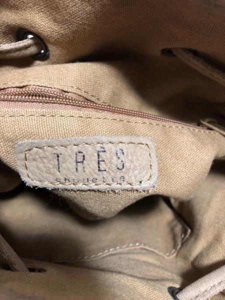 TRES(トレ) ショルダーバッグ ベージュ フリンジ レザー