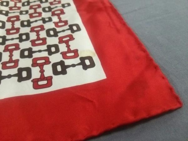 GUCCI(グッチ) スカーフ レッド×白×ダークブラウン