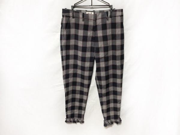 バウムウンドヘルガーデン パンツ レディース美品  チェック柄/フリル
