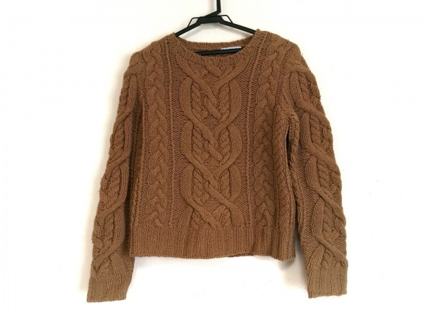 STRASBURGO(ストラスブルゴ) 長袖セーター サイズ38 M レディース ブラウン