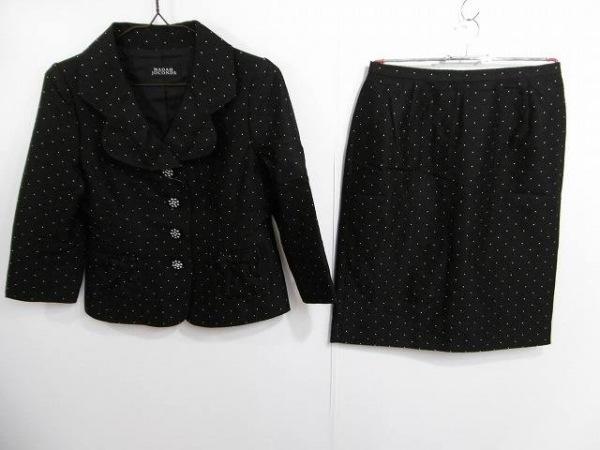 マダムジョコンダ スカートスーツ サイズ40 M レディース 黒×白 リボン
