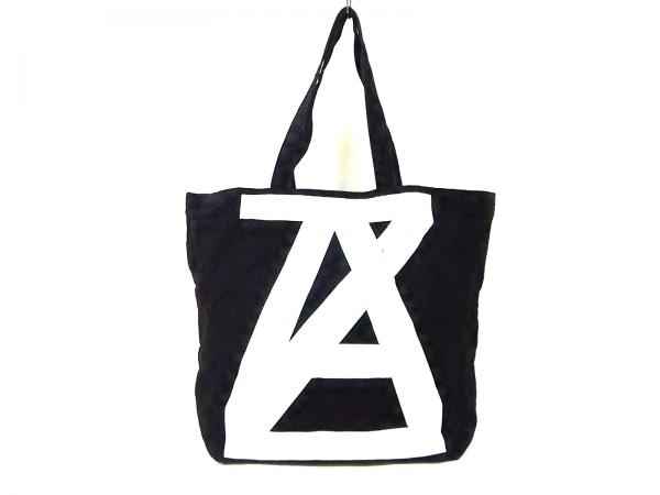 ANREALAGE(アンリアレイジ) トートバッグ 黒×白 キャンバス