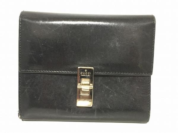 GUCCI(グッチ) 3つ折り財布 - - 黒 レザー