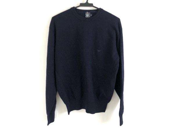 EMPORIOARMANI(エンポリオアルマーニ) 長袖セーター サイズM メンズ美品  ネイビー