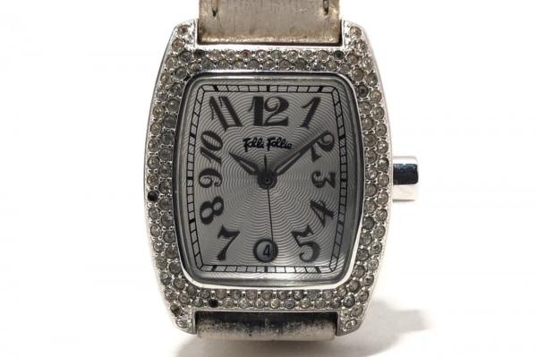 FolliFollie(フォリフォリ) 腕時計 - レディース ラインストーンベゼル シルバー