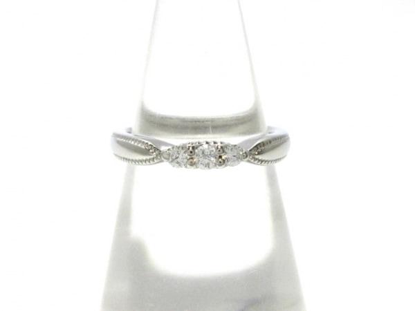 EXELCO(エクセルコ) リング新品同様  Pt950×ダイヤモンド 3Pダイヤ/0.108カラット