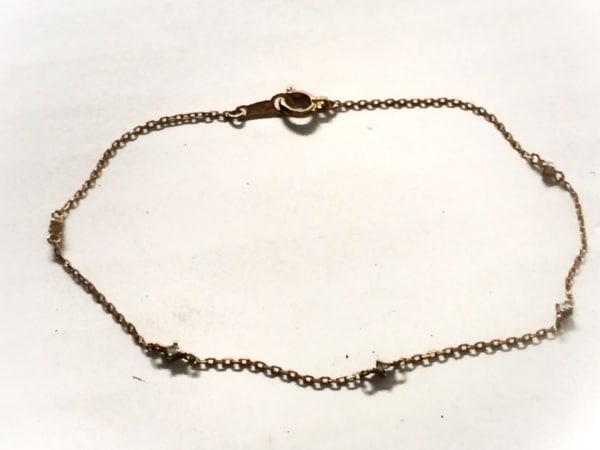 ete(エテ) ブレスレット美品  K18PG×ダイヤモンド 5Pダイヤ