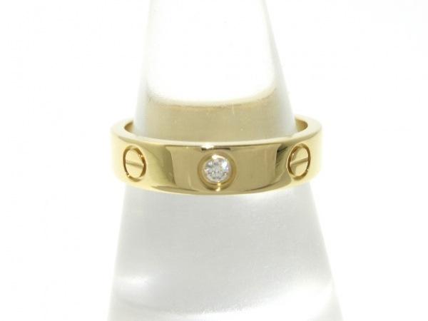 Cartier(カルティエ) リング 50美品  ミニラブ K18YG×ダイヤモンド 1Pダイヤ