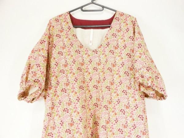 クーポール ワンピース サイズ36 S レディース美品  白×ピンク×マルチ 花柄